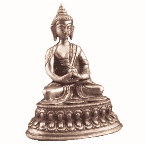Japanse Boeddha Beeld Messing Amithaba - 10 cm