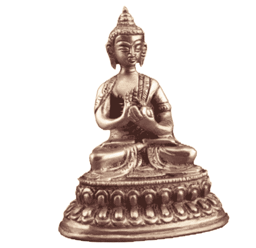 Japanse Boeddha Beeld Messing Vairocana - 10 cm