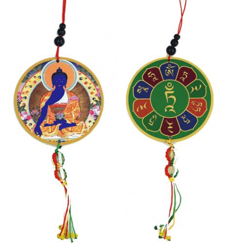 Auto- of Raamhanger Medicijnboeddha & Dorje