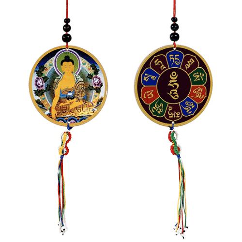 Auto- of Raamhanger Boeddha & Dorje