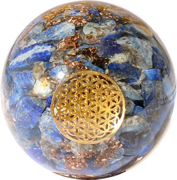 Orgoniet Bol Lapis Lazuli met Flower of Life
