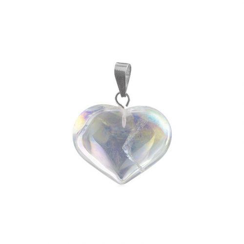 Hartvormige Edelstenen Hanger Angel Aura