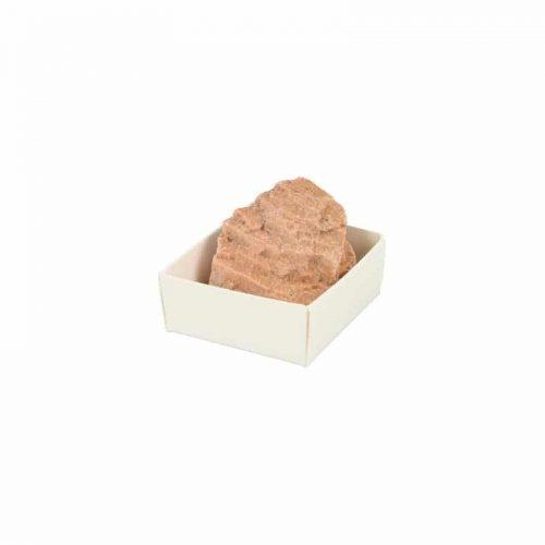 Ruwe Oranje Maansteen Edelsteen in Doosje ca. 4 cm