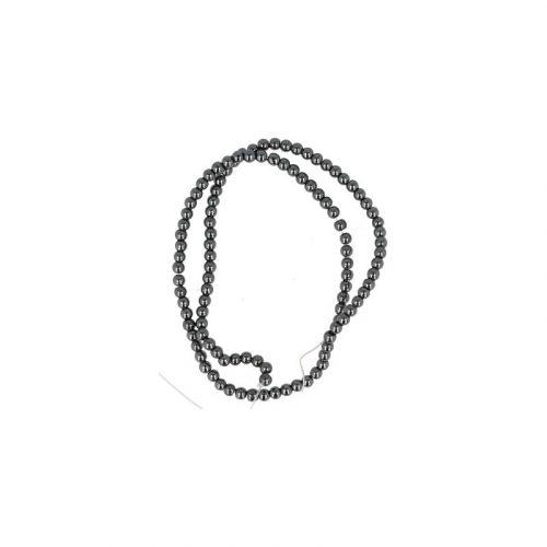 Kralen Streng Hematiet (4 mm)