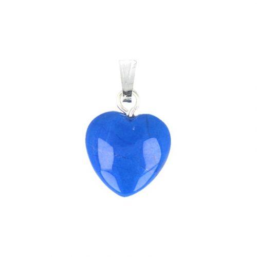 Hartvormige Edelstenen Hanger Howliet Blauw (12 mm)