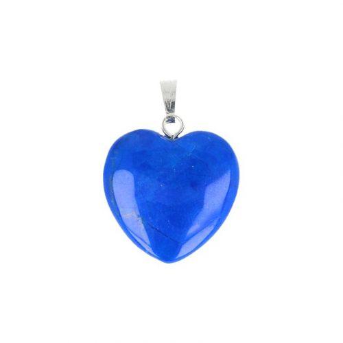Hartvormige Edelstenen Hanger Howliet Blauw (20 mm)