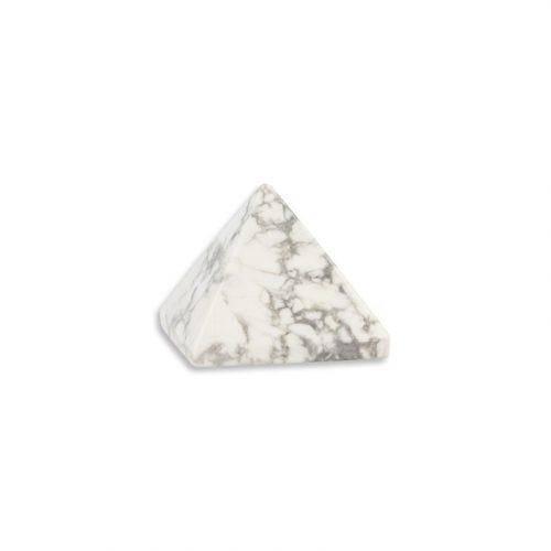 Piramide Edelsteen Howliet Wit (25 mm)