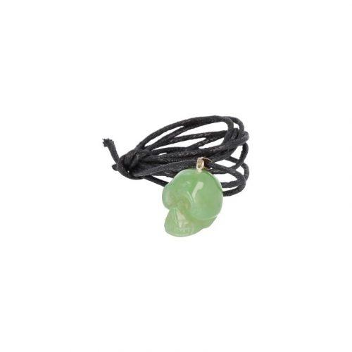 Schedel Hanger Jade aan Koord