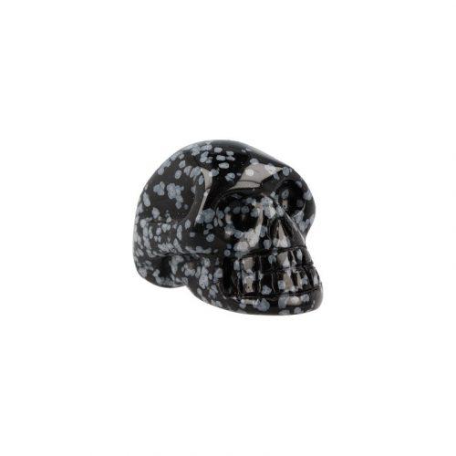 Edelstenen Schedel Obsidiaan (40 mm)