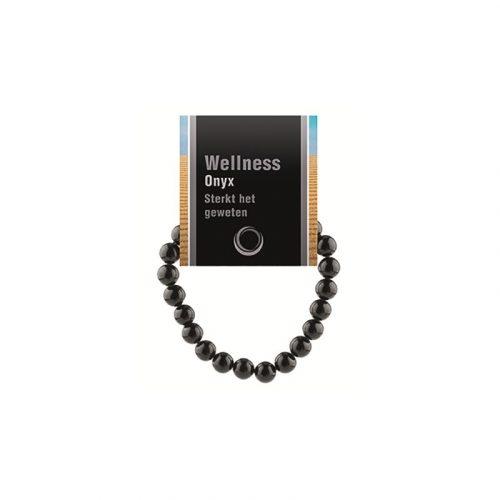Edelsteen Armband Onyx Powerbead met Uitlegkaart