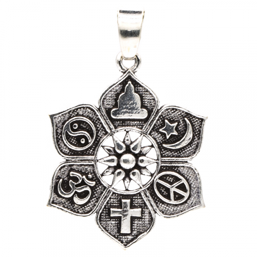 Hanger Lotus met Religieuze Symbolen