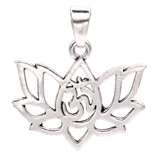 Hanger Lotus Messing Zilverkleur