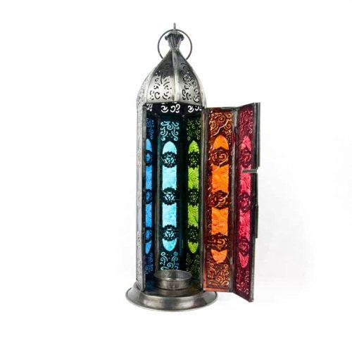 Sfeerlicht Oosterse Lantaarn Zeven Chakra's (Zilverkleurig)