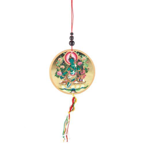 Auto- of Raamhanger Groene Tara & Dorje
