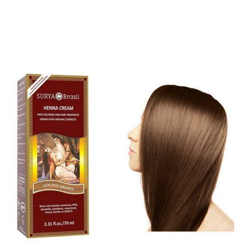 Surya Brasil Vegan Haarverf Cream Golden Brown