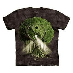 T Shirt Mountain Artwear Yin Yang Tree Zwart S