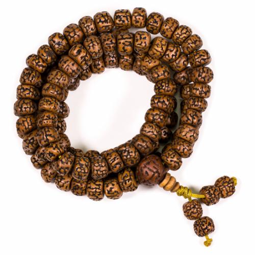 Mala Rudraksha & Minerals 108 Kralen (1 cm)