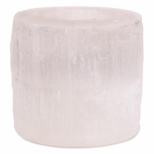 Seleniet Waxinelichthouder Cilinder - 8 x 8 cm (ca. 900 gram)