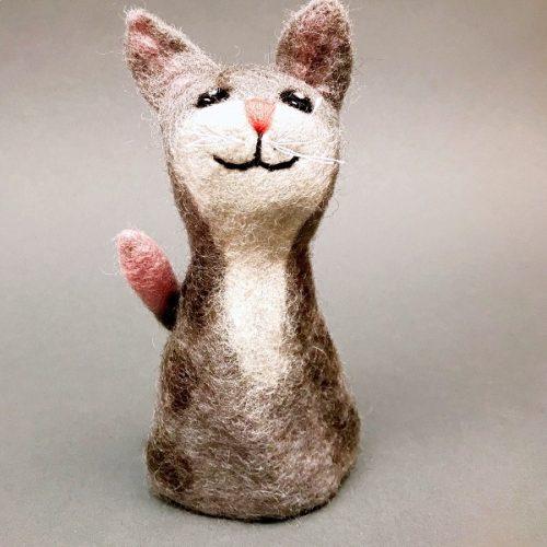Eierwarmer Kat (Grijs)