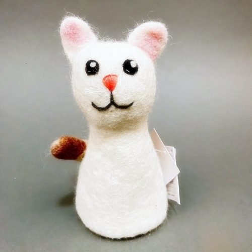 Eierwarmer Kat (Wit)