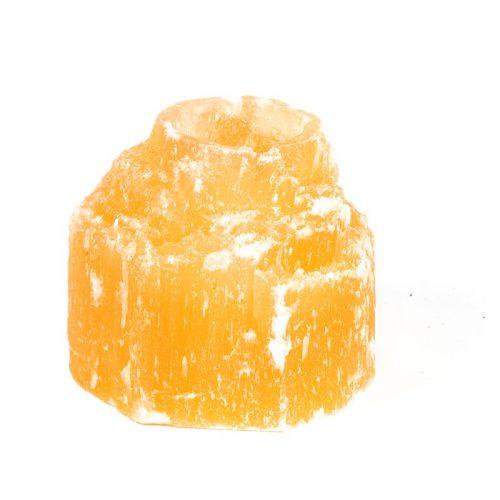 Seleniet Waxinelichthouder Cilinder Oranje - 9 x 9 cm (ca. 900 gram)