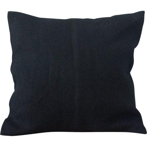 Kussenhoes van Jute (Zwart)