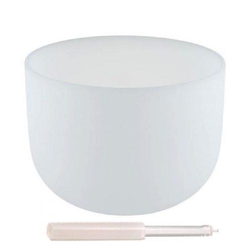 """Kristallen klankschaal D-toon + tas """"432 Hz"""" (30 cm)"""