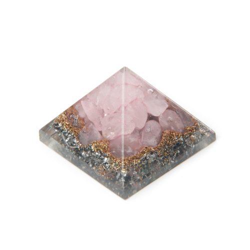 Orgonite Piramide Mini Rozenkwarts (25 mm)