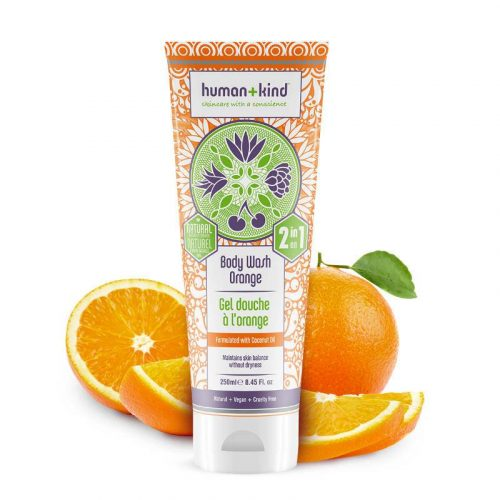 Human + Kind Shampoo Body Wash Orange Vegan All-in-one