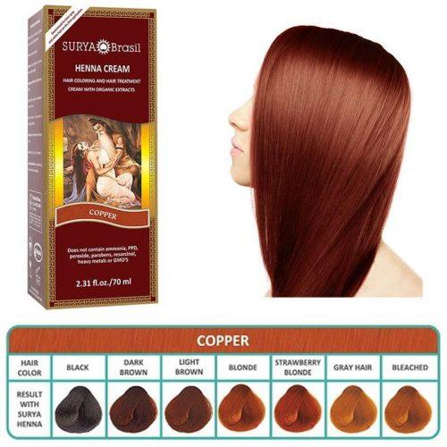 Surya Brasil Henna Haarverf Cream Copper (70 ml)