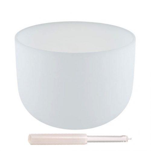Kristallen Klankschaal - C#-toon + Draagtas (25 cm)