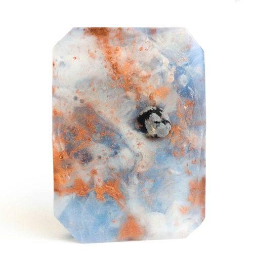 Zen – Sneeuwvlok Obsidiaan Edelsteen Zeep