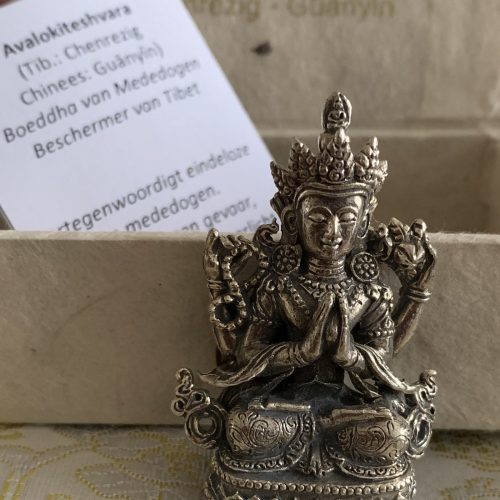 Mini Avalokiteshvara / Quan Yin Boeddha van Mededogen