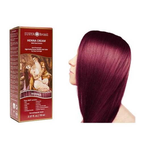 Surya Brasil Henna Haarverf Cream Marsala (70 ml)