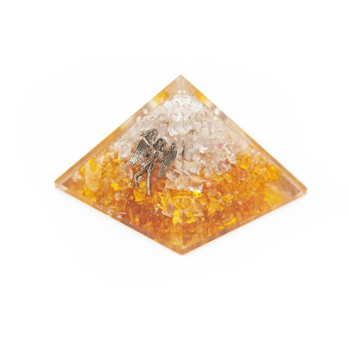 Orgonite Piramide Citrien - Engel - (70 mm)