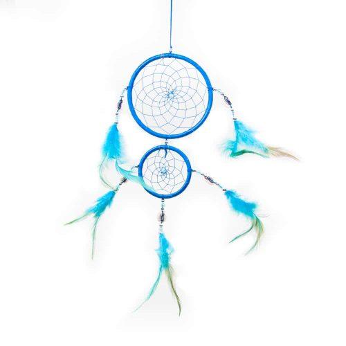 Mandala Dromenvanger Rond Blauw (ca. 30 cm)