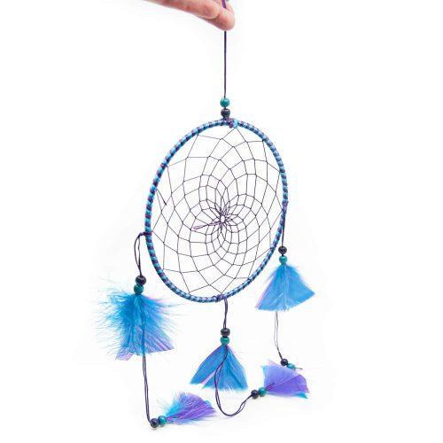 Mandala Dromenvanger Rond Paars/Blauw (ca. 45 cm)