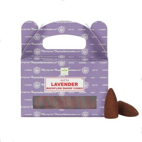 Satya Backflow Wierook Kegels Lavendel (24 kegels)