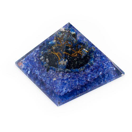 Orgonite Piramide Lapis Lazuli - Edelsteenboompje - (80 mm)
