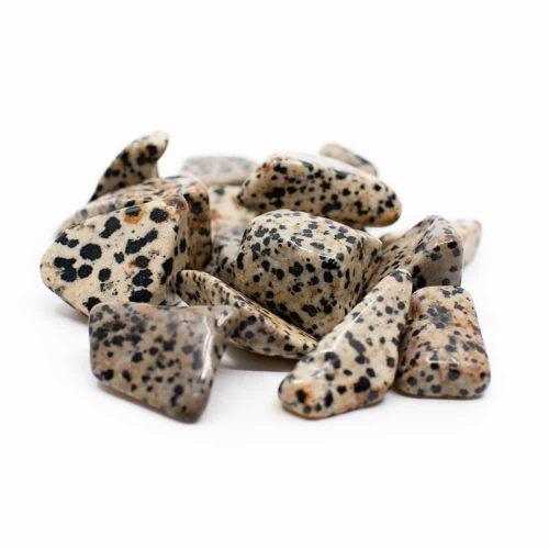 Trommelstenen Dalmatier Jaspis (20 tot 40 mm) – 200 gram