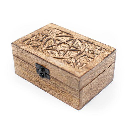 Opbergdoos Duurzaam Hout Pentagram Handgemaakt (15 cm)