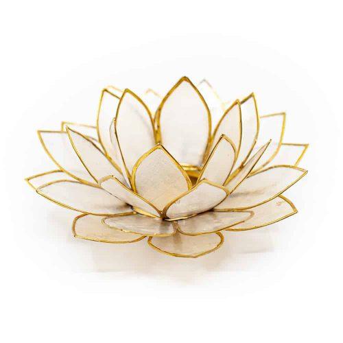 Lotus Sfeerlicht Naturel Goudrand - Deluxe