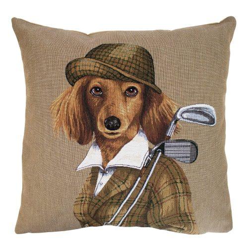 Gobelin Kussen Golf Hond Dame (45 x 45 cm)