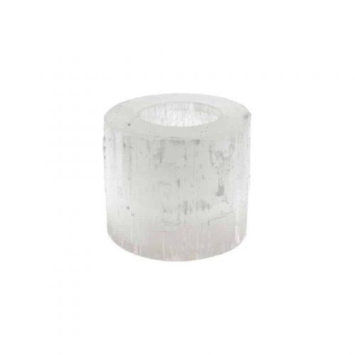 Seleniet Waxinelichthouder Cilinder - 8 x 6 x 6 cm (600 gram)