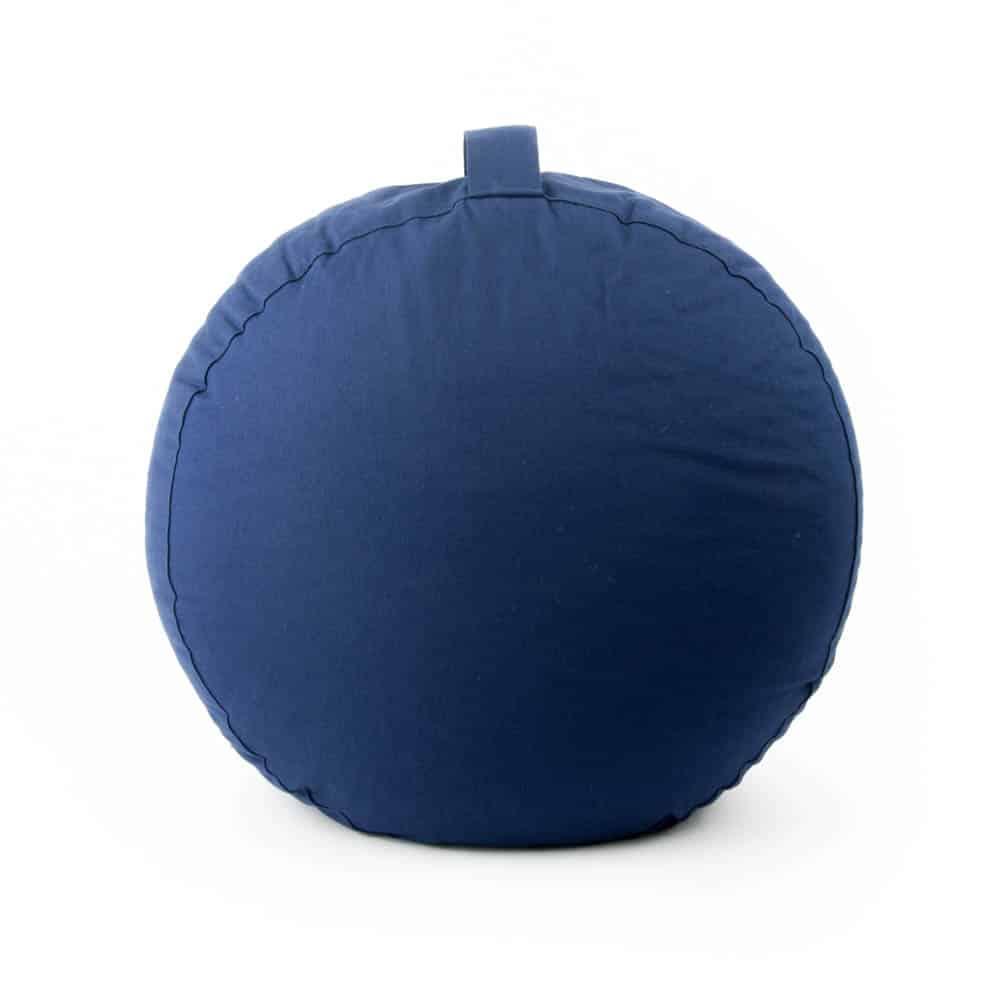 meditatiekussen donkerblauw blauw met handgreep