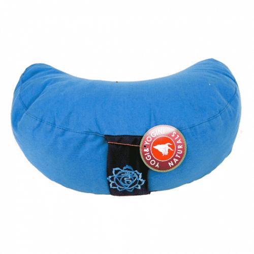 Yogi & Yogini Meditatiekussen Blauw Halve Maan Katoen - 5e Chakra - 33 x 13 cm