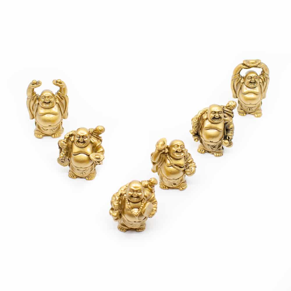 kleine gouden beeldjes in een punt
