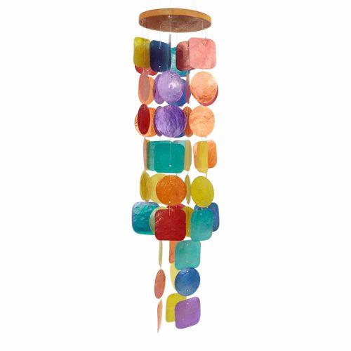 Windmobiel van Capiz Schelpen Multicolor