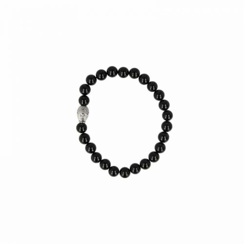 Edelsteen Armband Onyx met Boeddha