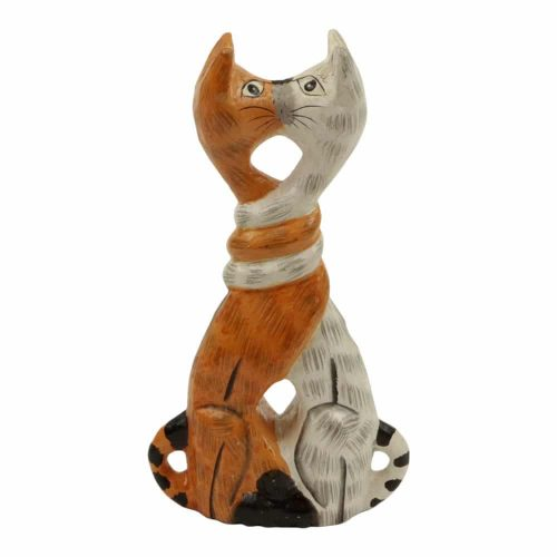 Kussende Houten Katten L